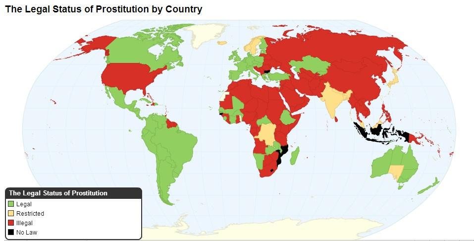 В Каких Странах Мира Проституция Легальна